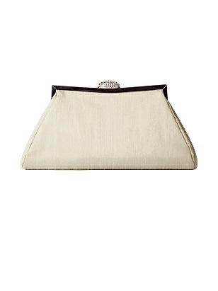 Vintage Inspired Wedding Accessories Dupioni Trapezoid Clutch with Jeweled Clasp $24.00 AT vintagedancer.com