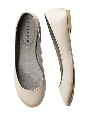 Simple Satin Ballet Wedding Flats thumbnail
