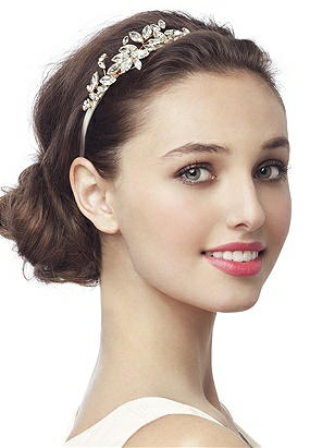 1920s Flapper Headbands Vintage Look Embellished Bridal Headband $21.00 AT vintagedancer.com
