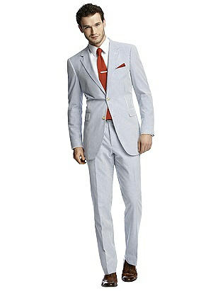 Men's Vintage Style Suits, Classic Suits Seersucker Suit Jacket by After Six $159.00 AT vintagedancer.com