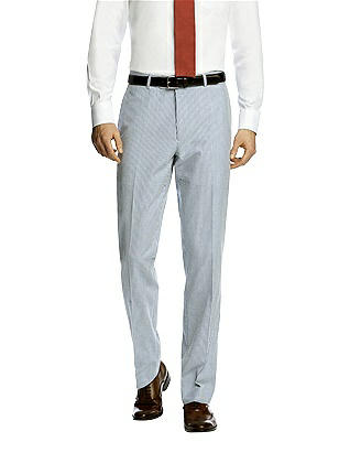 Seersucker Suit Flat Front Pants by After Six