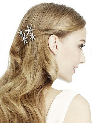 Vintage Hair Accessories: Combs, Headbands, Flowers, Scarf Rhinestone Star Hair Pins $13.00 AT vintagedancer.com