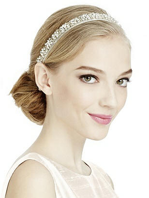 1920s Wedding Dresses- Art Deco Style Pearl and Sequin Geo Bridal Headband $20.00 AT vintagedancer.com