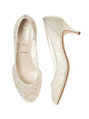 Chantilly lace Dynasty Kitten Heel Bridal Shoe