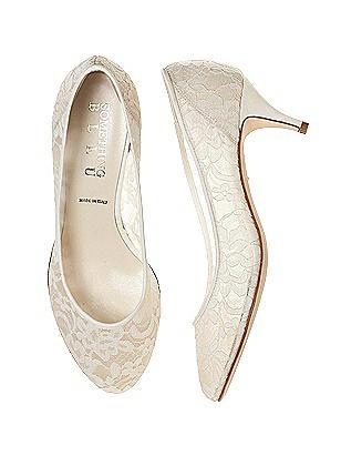 Chantilly lace Dynasty Kitten Heel Bridal Shoe thumbnail