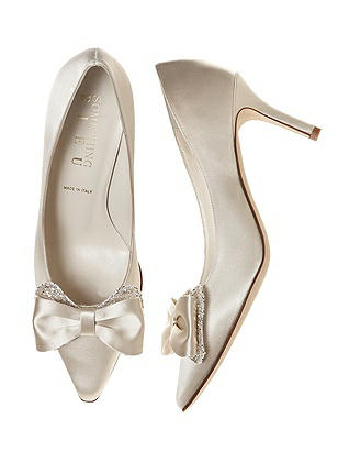 Doxy Satin and Sparkle Bridal Pump $95.00 AT vintagedancer.com