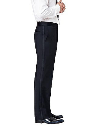 Edwardian Men's Formal Wear Flat Front Tuxedo Pant in Tollegno Wool $79.00 AT vintagedancer.com