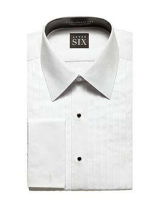The Oliver - Pleated Front Tuxedo Shirt