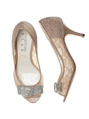 Coco Nude Lace Bridal Peep Toe Pump thumbnail