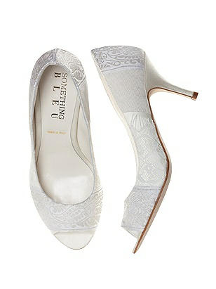 Confetti Lace and Jacquard Bridal Pump