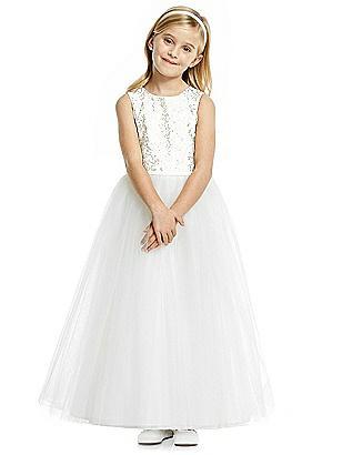 Kids 1950s Clothing & Costumes: Girls, Boys, Toddlers Special Order Flower Girl Dress FL4055 $198.00 AT vintagedancer.com