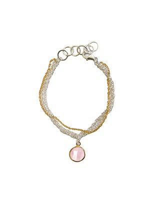 Sterling and Gold Plate Bella Bracelet