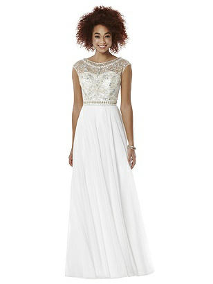 After Six Ivory Long Prom Dress Portia