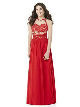 After Six Flame Red Long Prom Dress Diane
