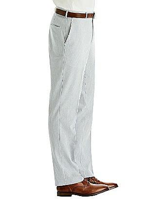 Hardwick Men's Seersucker Flat Front Pant