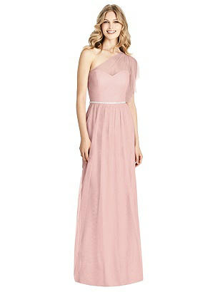 762a8737858 Special Order Jenny Packham Bridesmaid Style JP1003 -  271.00 Full length  one shoulder soft tulle dress w  draped split ruffle sleeve detail.