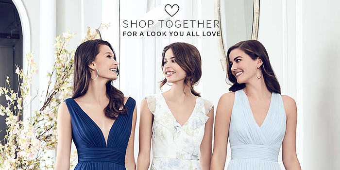 Wedding Showroom - Shop together for a look you all love.