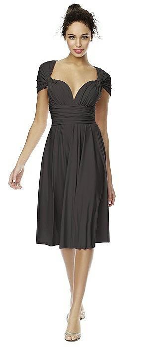 Matte Jersey Short Twist Wrap Dress