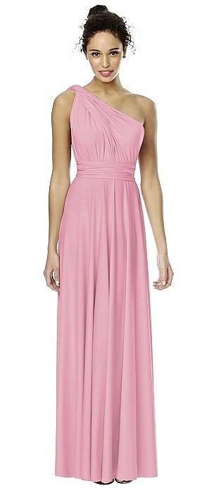 Matte Jersey Long Twist Wrap Dress