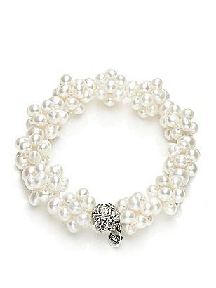 Vintage Inspired Wedding Accessories Freshwater Pearl Cluster Bracelet $27.00 AT vintagedancer.com