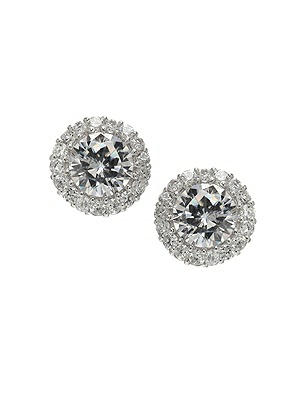 Classic Solitaire Earrings with Bezel Detail