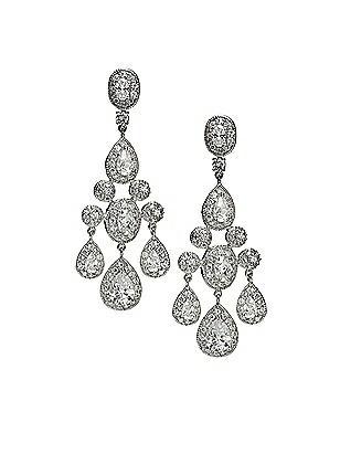 Vintage Inspired Wedding Accessories CZ Empire Chandelier Earrings $41.00 AT vintagedancer.com