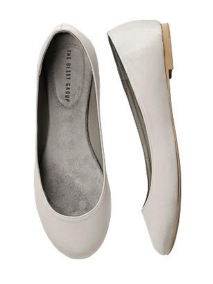 08079baedf7 oyster Simple Satin Ballet Wedding Flats