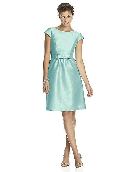 Alfred Sung Cap Sleeve Cocktail Dress D568