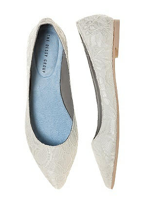 Vintage Style Wedding Shoes, Boots, Flats, Heels Lace Bridal Ballet Wedding Flats $42.00 AT vintagedancer.com