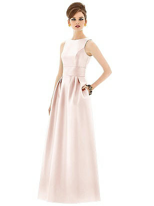30321acd732 blush Alfred Sung Open Back Sateen Twill Gown D661