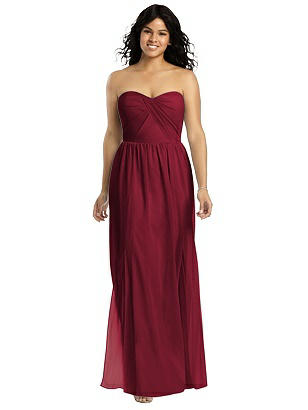 a64cea9b67 burgundy Social Bridesmaids Dress 8159