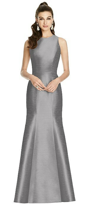 Sleeveless Cutout Trumpet Gown with Back Bow