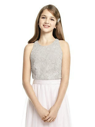 0d10d4632f3a9 oyster Dessy Collection Junior Bridesmaid Top JRT538