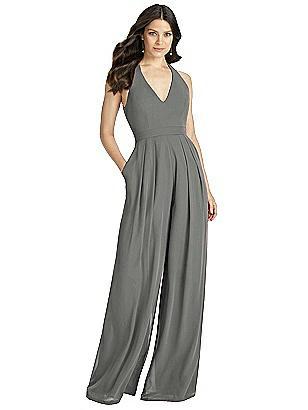 38743ef49bf Jenny Packham Bridesmaid Dress JP1019  282. charcoal gray Dessy Bridesmaid  Jumpsuit Arielle
