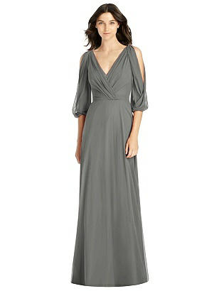 642ac660edd charcoal gray Jenny Packham Bridesmaid Dress JP1020