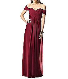 Off-The-Shoulder Draped Bodice Dress - Dessy 2844