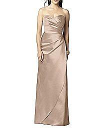 Full Length Strapless Matte Satin Dress - Dessy 2851