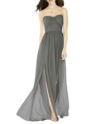 Full Length Strapless Lux Chiffon Dress - After Six 6794
