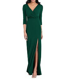 Full Length Stretch Crepe Dress - After Six 6797