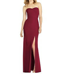 Strapless Chiffon Trumpet Gown with Front Slit Dress - After Six 6803