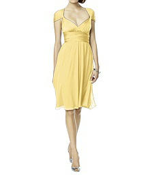 Twist Wrap Dress w/ Chiffon Overskirt: Short - LUXTWIST1