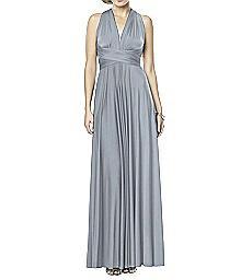Shimmer Jersey Full Length Twist Dress - SHIMMERTW2