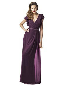 Dessy Shimmer Bridesmaid Dress 2874LS