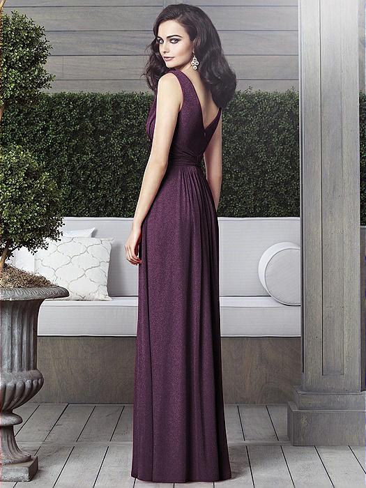 Dessy Shimmer Bridesmaid Dress 2907LS