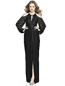 Dessy Shimmer Bridesmaid Dress 3018LS