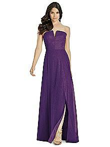Dessy Shimmer Bridesmaid Dress 3041LS