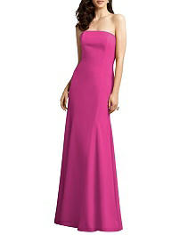 Strapless Crepe Dress with Trumpet Skirt - Dessy 2935