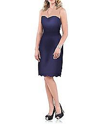 Sleeveless V-Neck Lace Cocktail Dress - Dessy 2912