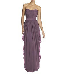 Strapless Draped Skirt Chiffon Gown - Lela Rose LR163
