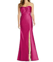 Full Length Sweetheart Neckline Dress - Alfred Sung D762